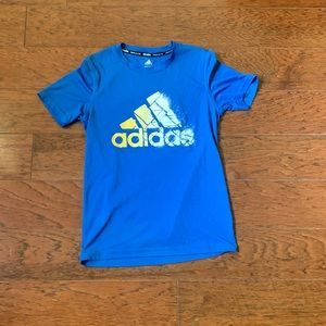 Adidas dry fit climalite athletic shirt nwot blue